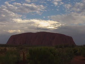 Ayers rock no rain!
