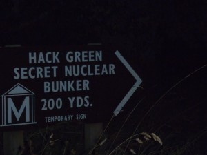 Secret Bunker Sign
