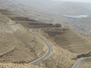 Road through Wadi Mujib