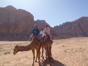 Three on Camels
