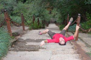 Hua-Shan-Roo-lying-on-stairs
