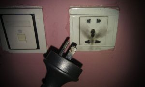 Lotus Guesthouse exploded power socket