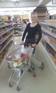 Roo with mini shopping trolley in UB